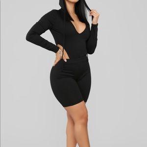 Fashion Nova brand new never worn black two piece